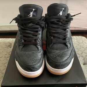 Jordan 4Retro 'Laser Black Gum'